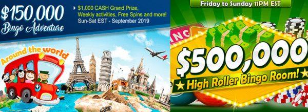 $150,000 Bingo Adventure Around the World – Sept 2019 at Amigo Bingo