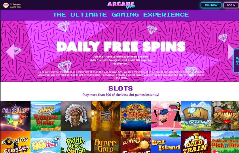 Arcade Spins online