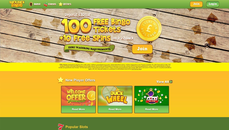 Duck Duck Bingo website
