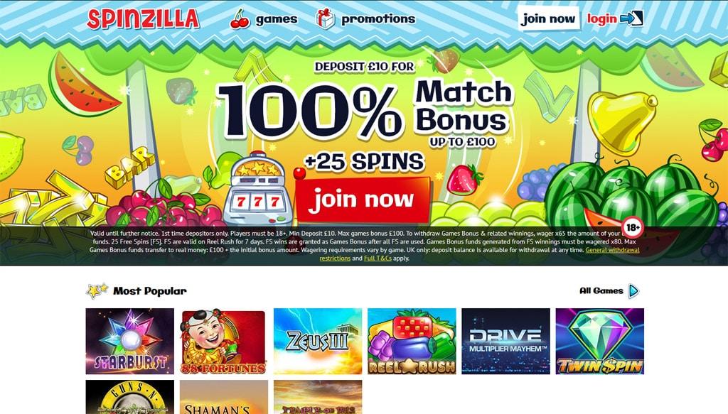 Spinzilla Slots online