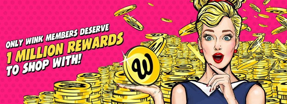 1 Million Rewards and exclusive bingo bonuses at Wink Bingo