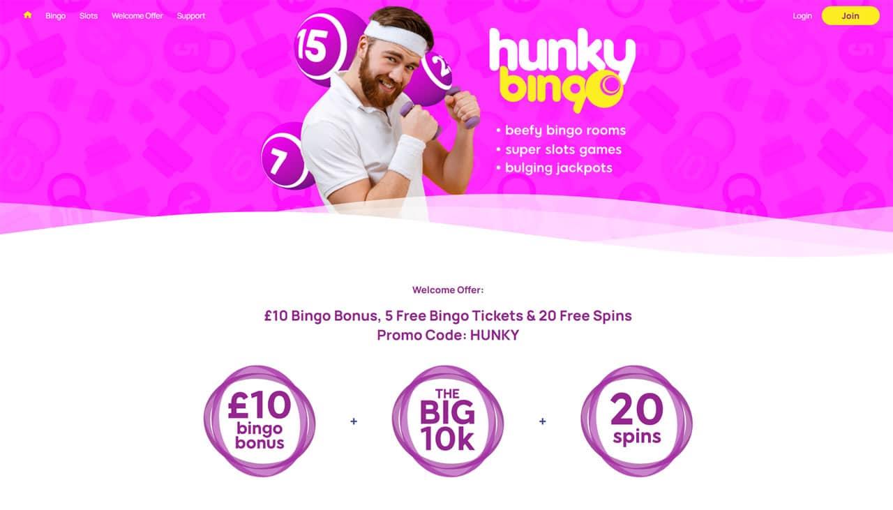 Hunky Bingo website