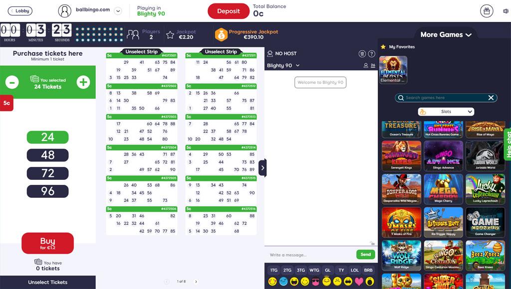 hunky bingo 90