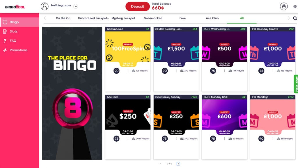 bingo idol lobby