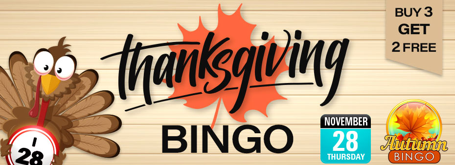 Thanksgiving Bingo – Be a bingo winner at Thanksgiving!
