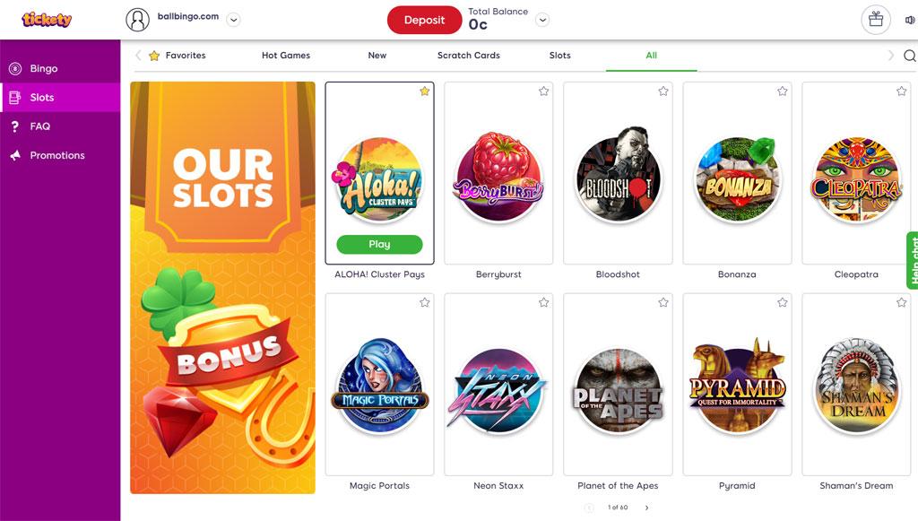 tickety bingo slots