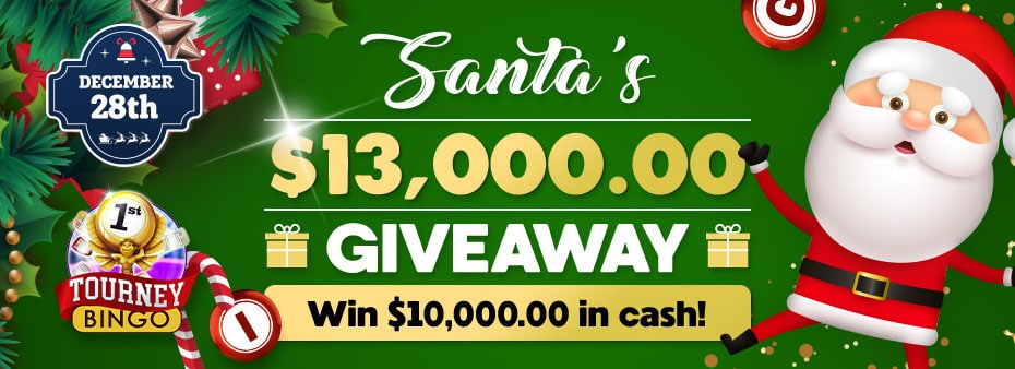 Santa's $13,000 Guaranteed Big Bingo Event at Cyber Bingo