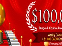 $100,000 Bingo Award Season – February 2020 at Amigo Bingo