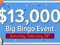 Saturday, February 29, Cyber Bingo biggest bingo event of the month
