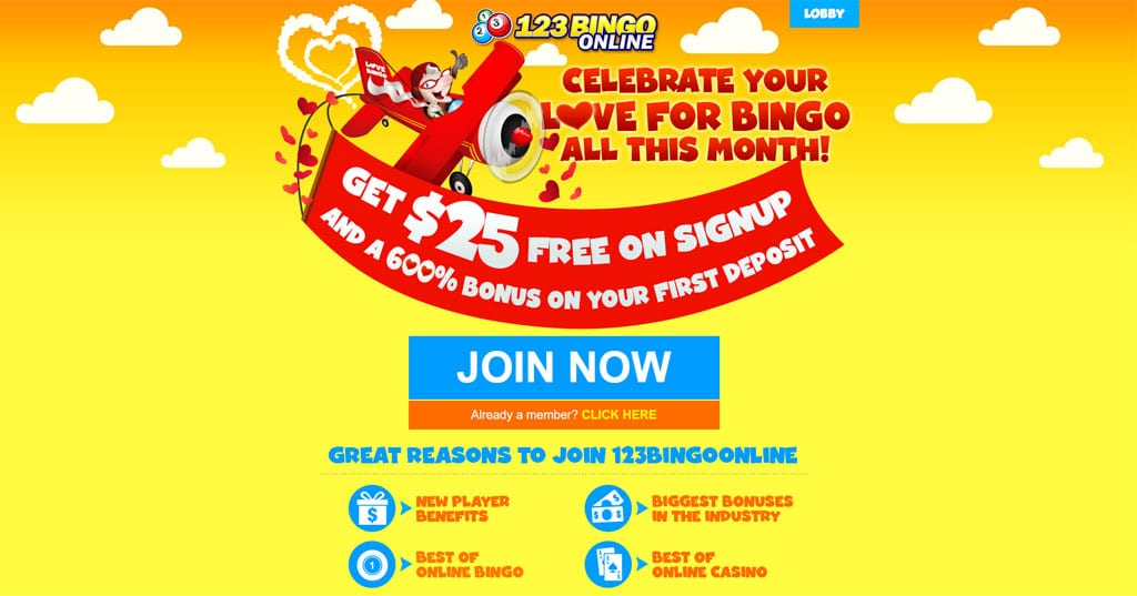 123 Bingo website