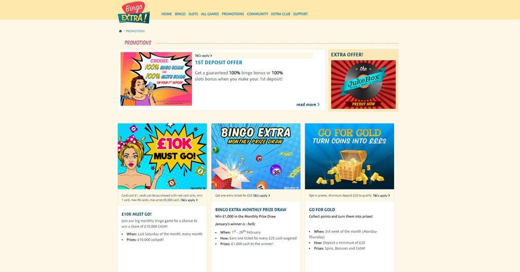 Bingo Extra website