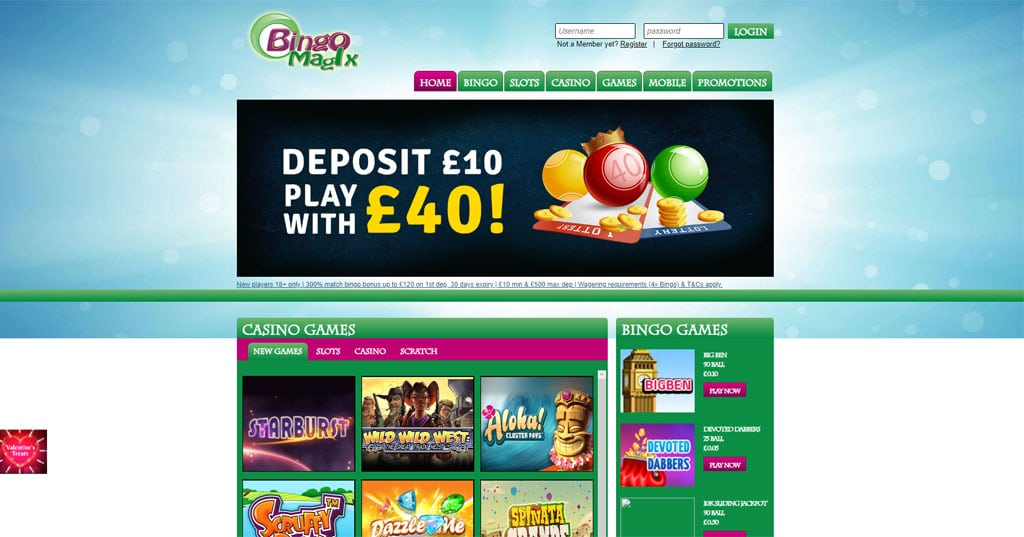 Bingo Magix website