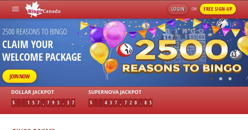 Bingo Canada website