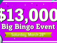 Join Cyber Bingo $10,000 Cash Game on Saturday March 28th