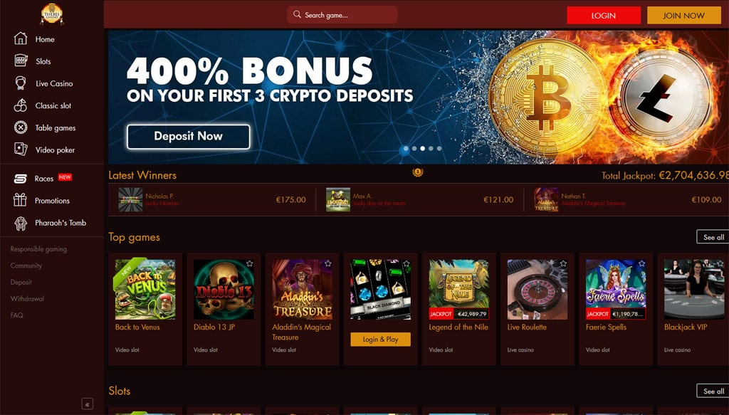 Thebes Casino online