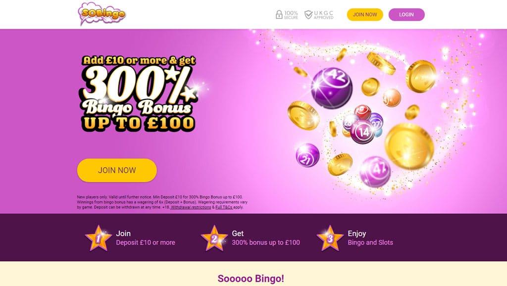 So Bingo website
