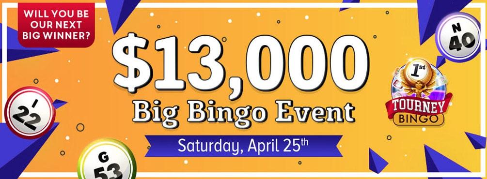 April's $13,000 Big Bingo Event at Bingo Fest