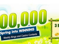 $100,000 Spring into Winning – April 2020 at Canadian Dollar Bingo