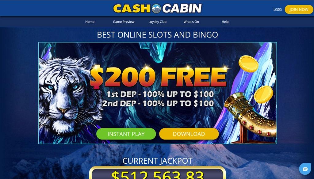 Cash Cabin Bingo website