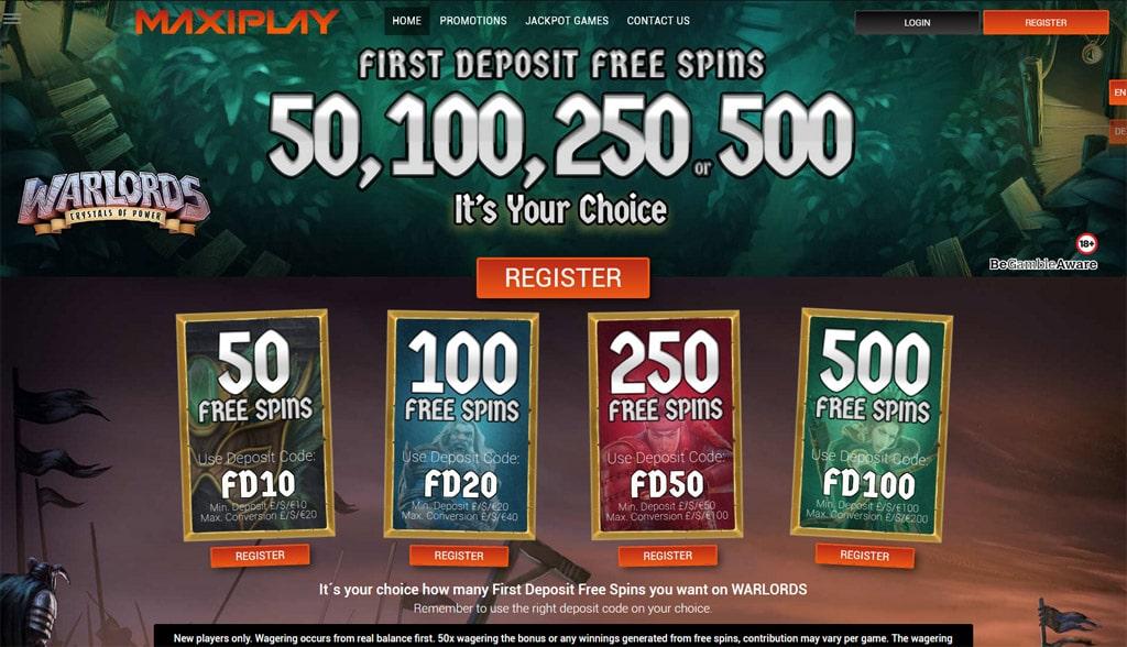 MaxiPlay Casino online