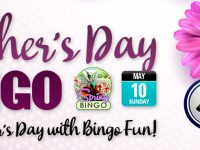 Get a top prize of $200 cash in Mother's Day BINGO tournament!