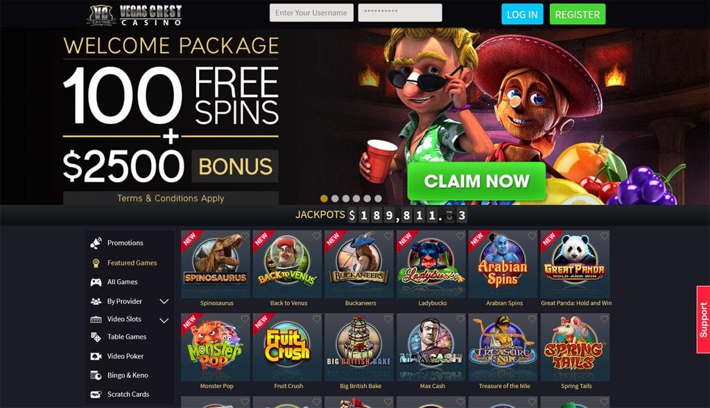 Vegas Crest Casino online