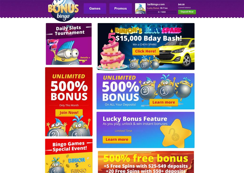 bonus bingo bonuses