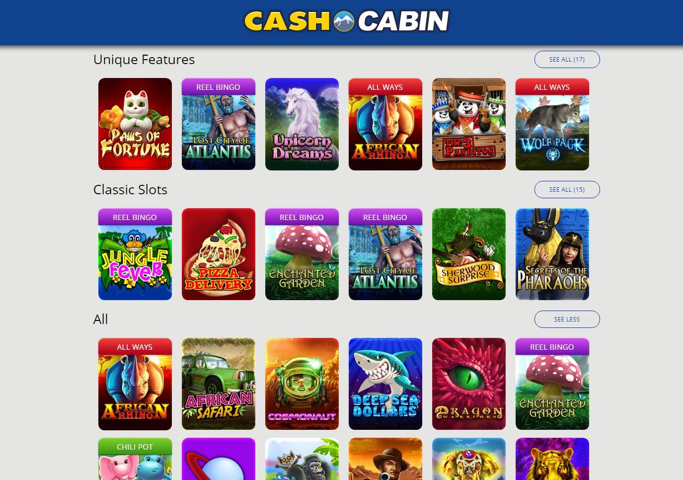 cash cabin games