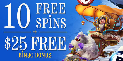 $25 no deposit + amazing 1500% in free bonuses