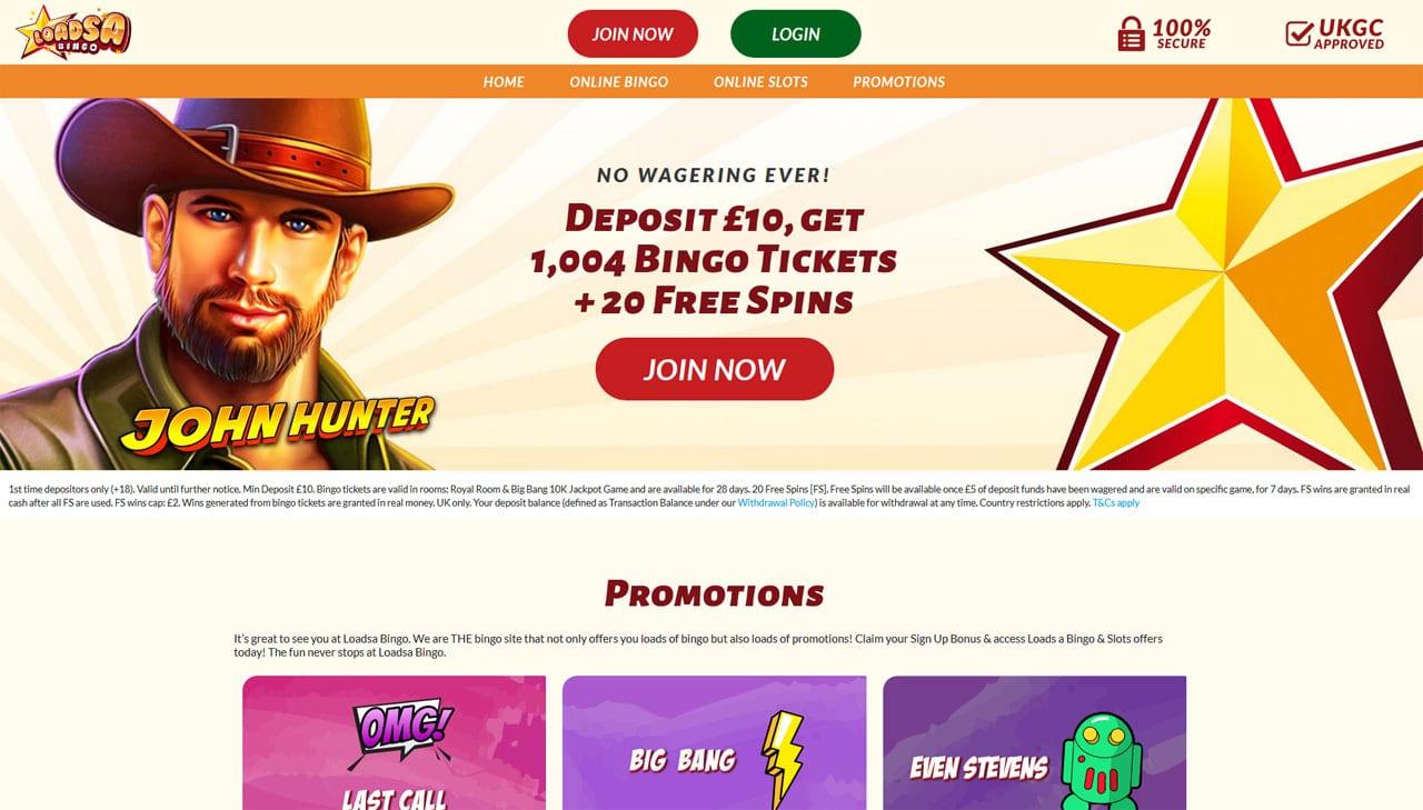 Loadsa Bingo website