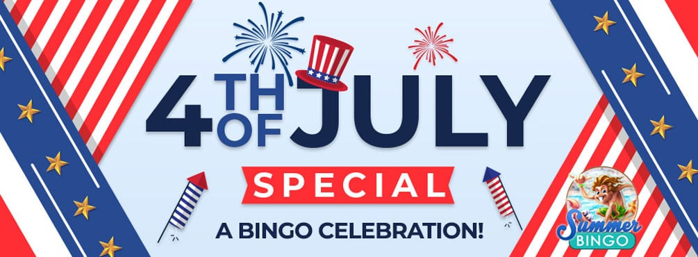Have fun in Bingo Fest 4th of July Special on this day of celebration!