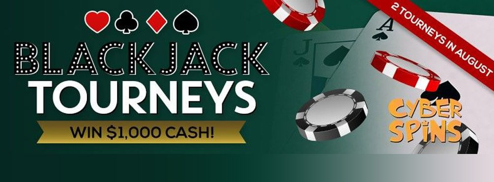 Put your Best Hand Forward in Cyber Spins' Blackjack Tourneys!