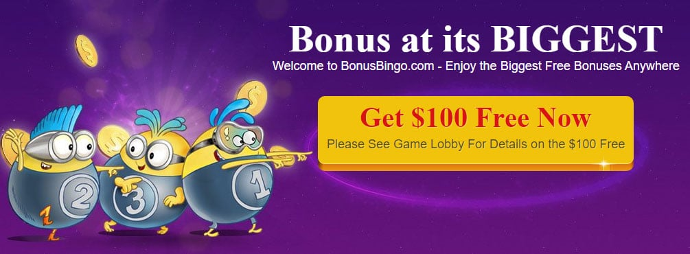 Play fun-filled bingo and slot games for money at Bonus Bingo + 500% Bonus