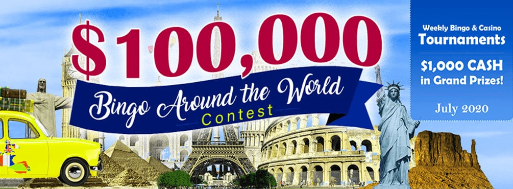 $100,000 Bingo Around the World Contest – July 2020