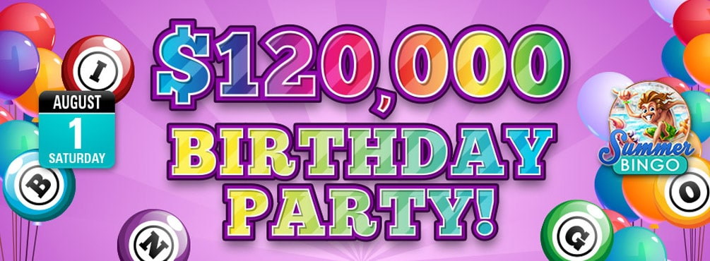 Bingo Fest $120,000 Birthday Party – Get your share of the $120,000 pool prize