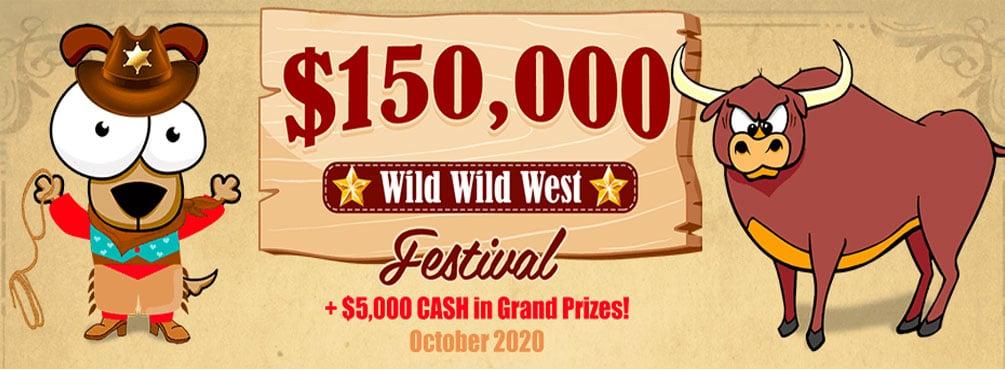 $150,000 Wild Wild West Festival! – October 2020 Amigo Bingo