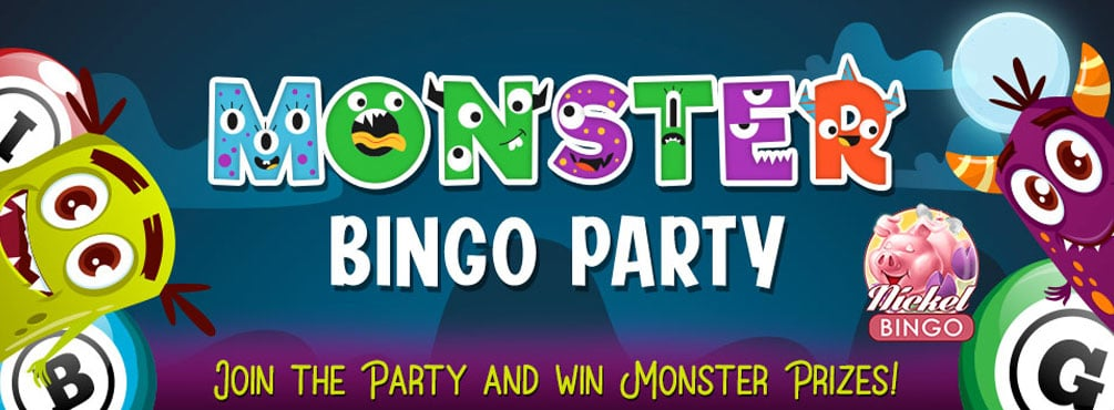 Monster Bingo Party – $2,000.00 Up For Grabs at Cyber Bingo