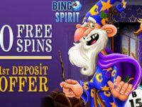 Exclusive $10 FREE Bingo Bonus and 50 FREE Sign up Spins at Bigno Spirit
