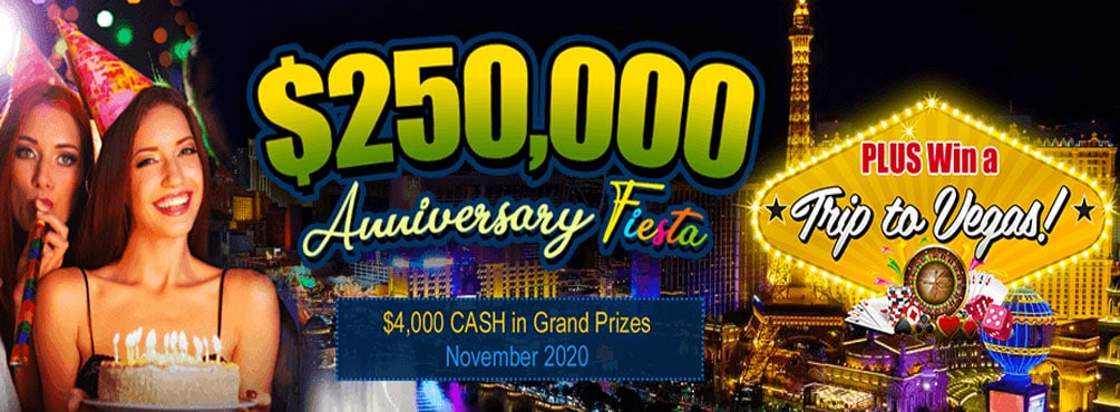 $250,000 in CASH JACKPOTS, OVER $5,000 in EXTRA Prizes – win an unforgettable trip to Las Vegas
