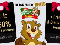 Black Friday FreeRoll at Canadian Bingo - 250% in EXTRA bonuses