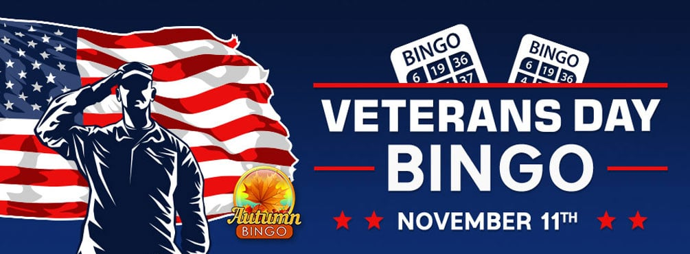 Get playing in our Veterans Day bingo event