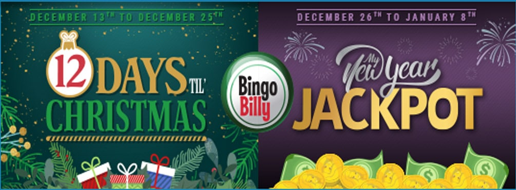 The Holiday Season is here at Bingo Billy