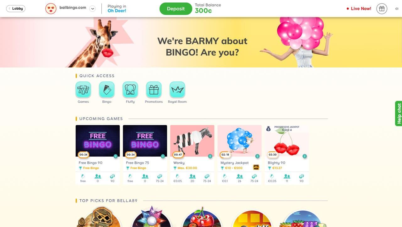 bingo barmy screen