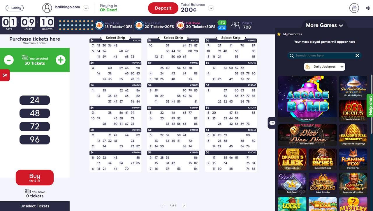 Pizazz Bingo 90