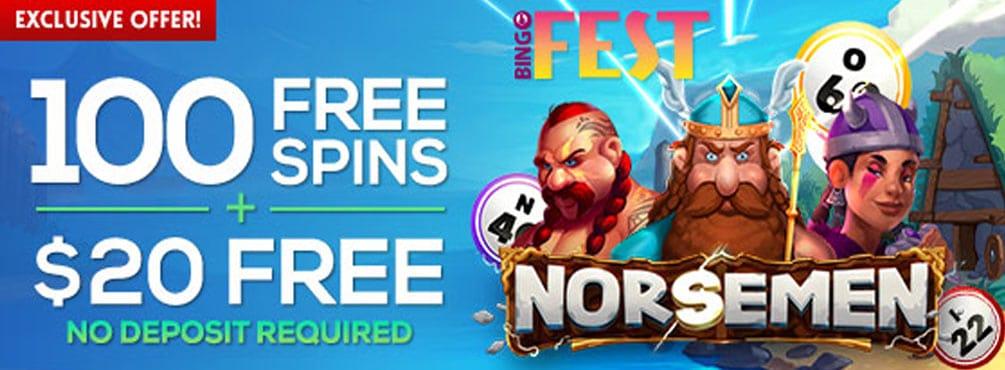 Get 100 Free Spins on Norsemen at Bingo Fest in March!