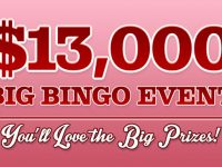 Win $10,000 cash at Cyber Bingo - $13,000 Big Bingo Event!