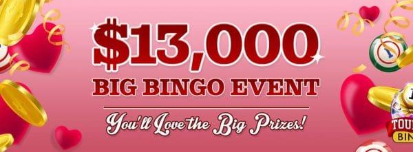 Win $10,000 cash at Cyber Bingo – $13,000 Big Bingo Event!