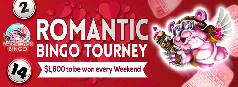 Romantic Bingo Tourney – Love and bingo are in the air this February!