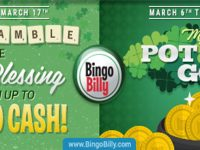 Irish Blessings and incredible prizes are ready at BingoBilly this March