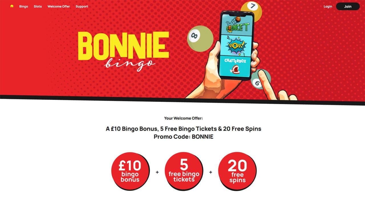 Bonnie Bingo website